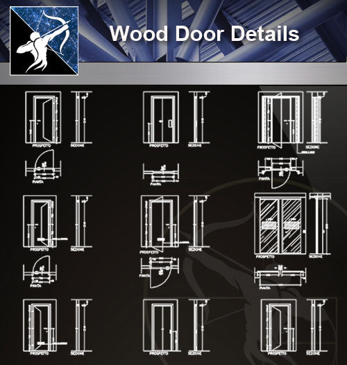 【Door Details】Wood Door Details - Architecture Autocad Blocks,CAD Details,CAD Drawings,3D Models,PSD,Vector,Sketchup Download