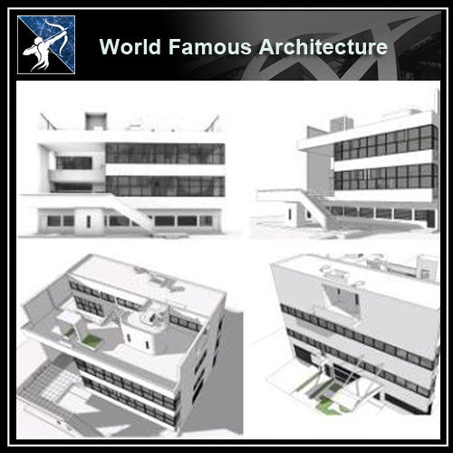【World Famous Architecture CAD Drawings】Villa stein - le corbusier sketchup 3D - Architecture Autocad Blocks,CAD Details,CAD Drawings,3D Models,PSD,Vector,Sketchup Download