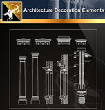 Free CAD Architecture Decoration Elements 14 - Architecture Autocad Blocks,CAD Details,CAD Drawings,3D Models,PSD,Vector,Sketchup Download