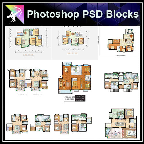 ★【Best 56 Types Interior Design Layout Photoshop PSD】(Recommanded!!)