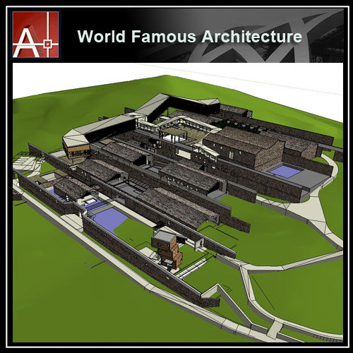 【Famous Architecture Project】Wang Xi-Ninghai Shili Red Makeup Museum-Architectural 3D SKP model