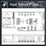 【Architecture CAD Projects】Hair Salon CAD plan CAD Blocks
