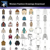 ★Women Fashion Drawings Download  V.1-Women Dresses,Tops,Skirts,Shoes Design Drawings - Architecture Autocad Blocks,CAD Details,CAD Drawings,3D Models,PSD,Vector,Sketchup Download