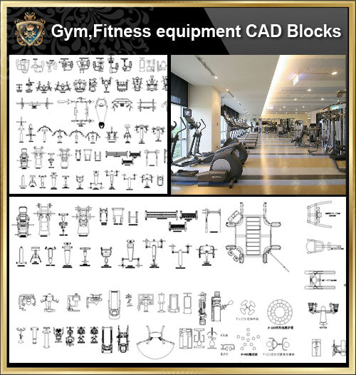 ★【All Gym,Fitness equipment CAD Blocks Bundle-Stadium,Gymnasium, playground, sports hall】@Gem CAD Blocks,Autocad Blocks,Drawings,CAD Details - Architecture Autocad Blocks,CAD Details,CAD Drawings,3D Models,PSD,Vector,Sketchup Download