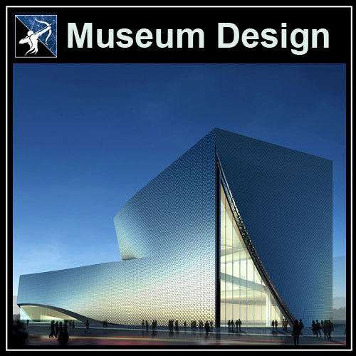 【Architecture CAD Projects】Museum Design CAD Blocks,Plans,Layout V2