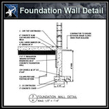 ★Free CAD Details-Foundation Wall Detail