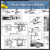 【CAD Details】Hydro Sanitary CAD Details - Architecture Autocad Blocks,CAD Details,CAD Drawings,3D Models,PSD,Vector,Sketchup Download