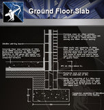 【Free Floor Details】Ground Floor Slab - Architecture Autocad Blocks,CAD Details,CAD Drawings,3D Models,PSD,Vector,Sketchup Download