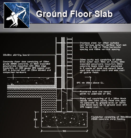 【Free Floor Details】Ground Floor Slab