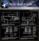 【Door Details】Door Jamb Details - Architecture Autocad Blocks,CAD Details,CAD Drawings,3D Models,PSD,Vector,Sketchup Download