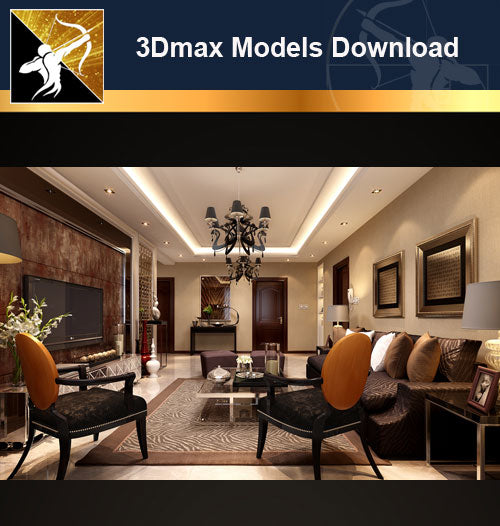 ★Download 3D Max Decoration Models -Living Room V.10