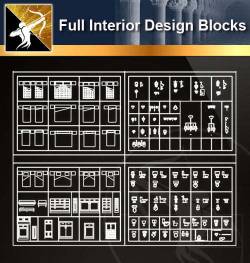 ★Full Interior Design Blocks 5