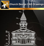Church Design CAD Drawings 2 - Architecture Autocad Blocks,CAD Details,CAD Drawings,3D Models,PSD,Vector,Sketchup Download