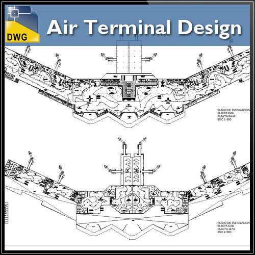 【Architecture CAD Projects】Air Terminal Design