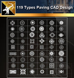 ★119 Types CAD Paving Blocks Collection - Architecture Autocad Blocks,CAD Details,CAD Drawings,3D Models,PSD,Vector,Sketchup Download