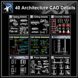 ★【Full Architecture CAD Details Drawings Bundle】 - Architecture Autocad Blocks,CAD Details,CAD Drawings,3D Models,PSD,Vector,Sketchup Download