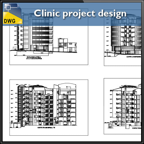 【Architecture CAD Projects】@Clinic project design DWG
