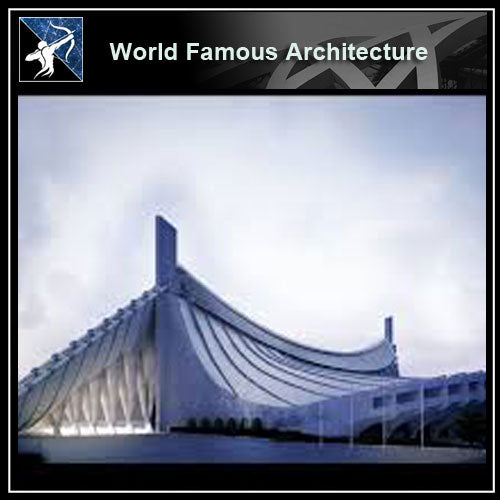 【Famous Architecture Project】Kenzo tange national - gymnasium CAD Drawing-Architectural 3D CAD model - Architecture Autocad Blocks,CAD Details,CAD Drawings,3D Models,PSD,Vector,Sketchup Download