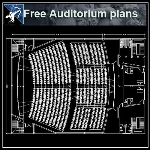 【Architecture CAD Projects】AuditoriumCAD Drawings ,CAD Blocks,Details (Free)