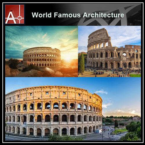 【Famous Architecture Project】Colosseum-Architectural 3D SKP model - Architecture Autocad Blocks,CAD Details,CAD Drawings,3D Models,PSD,Vector,Sketchup Download