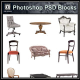【Photoshop PSD Blocks】Chair PSD V.1 - Architecture Autocad Blocks,CAD Details,CAD Drawings,3D Models,PSD,Vector,Sketchup Download
