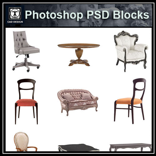 【Photoshop PSD Blocks】Chair PSD V.1