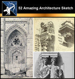 ★52 Amazing Architecture Sketch Hand Drawing!! ★ Must Watch! - Architecture Autocad Blocks,CAD Details,CAD Drawings,3D Models,PSD,Vector,Sketchup Download