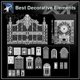 ★【OVER 500+ NEOCLASSICAL INTERIORS DECOR, DECORATIVE ELEMENTS-FRAME,PATTERN,BORDER,DOOR,WINDOWS,CABINET,LATTICE,CEILING,PAVING】 - Architecture Autocad Blocks,CAD Details,CAD Drawings,3D Models,PSD,Vector,Sketchup Download