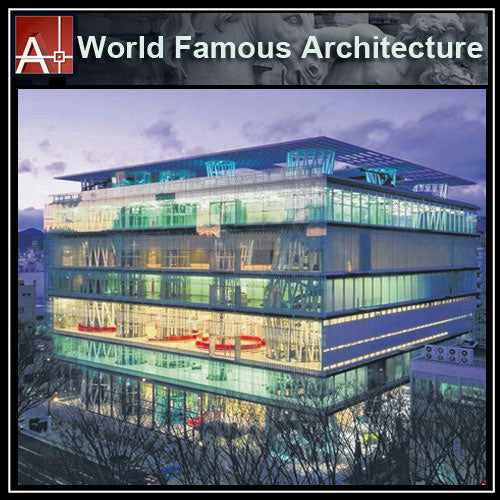 【Famous Architecture Project】Sendai Mediatheque-Toyo Ito-CAD Drawings - Architecture Autocad Blocks,CAD Details,CAD Drawings,3D Models,PSD,Vector,Sketchup Download