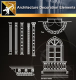 Free CAD Architecture Decoration Elements 10 - Architecture Autocad Blocks,CAD Details,CAD Drawings,3D Models,PSD,Vector,Sketchup Download