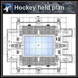 【Architecture CAD Projects】Hockey Field CAD plans ,CAD Blocks