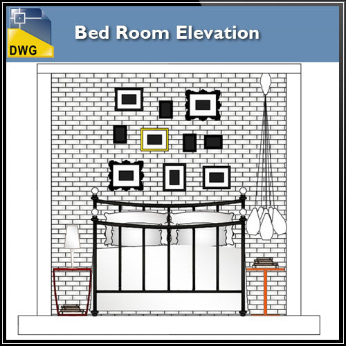 【Interior Design CAD Drawings】@Bed Room Elevation design CAD Drawings