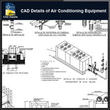 【CAD Details】CAD Details of Air Conditioning Equipment for offices - Architecture Autocad Blocks,CAD Details,CAD Drawings,3D Models,PSD,Vector,Sketchup Download