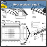 【CAD Details】Roof sectional detail cad drawing - Architecture Autocad Blocks,CAD Details,CAD Drawings,3D Models,PSD,Vector,Sketchup Download
