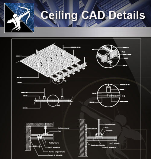 【Ceiling Details】Free Ceiling Details 1 - Architecture Autocad Blocks,CAD Details,CAD Drawings,3D Models,PSD,Vector,Sketchup Download