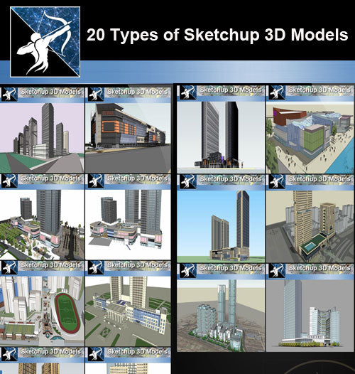 ★Best 20 Types of City,Residential Building Sketchup 3D Models Collection(Recommanded!!) - Architecture Autocad Blocks,CAD Details,CAD Drawings,3D Models,PSD,Vector,Sketchup Download