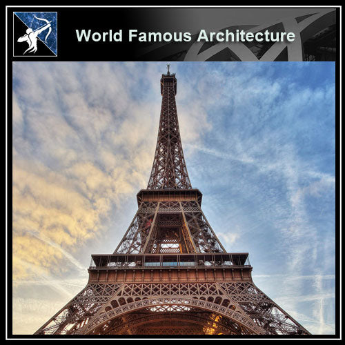 【Famous Architecture Project】Eiffel Tower 3d Max model-Architectural 3D max model