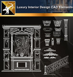 Luxury Interior Design CAD Elements - Architecture Autocad Blocks,CAD Details,CAD Drawings,3D Models,PSD,Vector,Sketchup Download