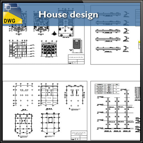 【CAD Details】House Design CAD details - Architecture Autocad Blocks,CAD Details,CAD Drawings,3D Models,PSD,Vector,Sketchup Download
