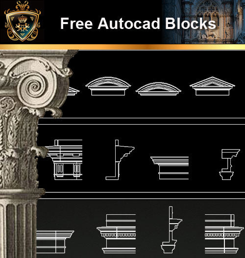 ★Free CAD Blocks-Architecture Decorative Elements V.14 - Architecture Autocad Blocks,CAD Details,CAD Drawings,3D Models,PSD,Vector,Sketchup Download