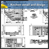 【CAD Details】Kitchen CAD Details and design - Architecture Autocad Blocks,CAD Details,CAD Drawings,3D Models,PSD,Vector,Sketchup Download