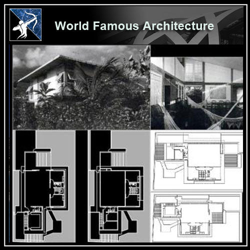 【Famous Architecture Project】Sotavento house CAD Drawing-Architectural 3D CAD model