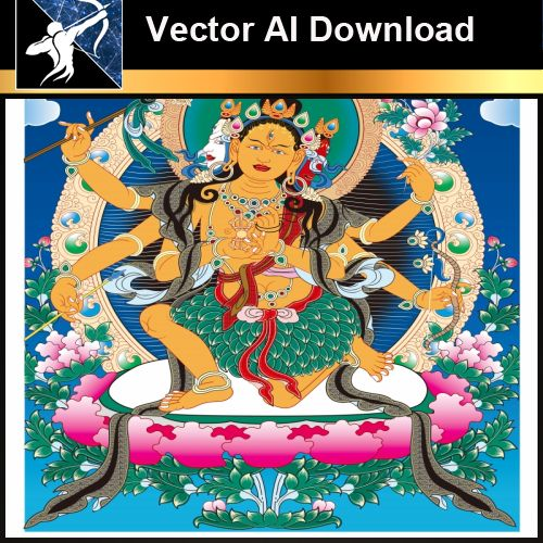 ★Vector Download AI-Thangka Paintings and Mandala: The Sacred Art of Nepal V.10