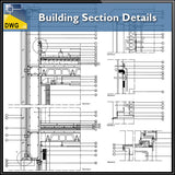 【CAD Details】Building Section CAD Details - Architecture Autocad Blocks,CAD Details,CAD Drawings,3D Models,PSD,Vector,Sketchup Download