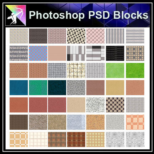 【Photoshop PSD Landscape Blocks】Landscape Paving Blocks 4