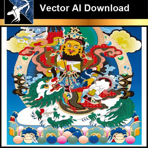 ★Vector Download AI-Thangka Paintings and Mandala: The Sacred Art of Nepal V.6
