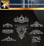 Free CAD Architecture Decoration Elements 6 - Architecture Autocad Blocks,CAD Details,CAD Drawings,3D Models,PSD,Vector,Sketchup Download