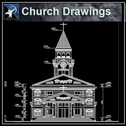 【Architecture CAD Projects】Church Architecture Design CAD Blocks,Plans,Layout V2