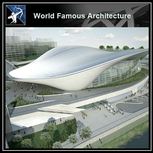 【World Famous Architecture CAD Drawings】London aquatics center architecture - Zaha Hadid architects Sketchup 3d model - Architecture Autocad Blocks,CAD Details,CAD Drawings,3D Models,PSD,Vector,Sketchup Download