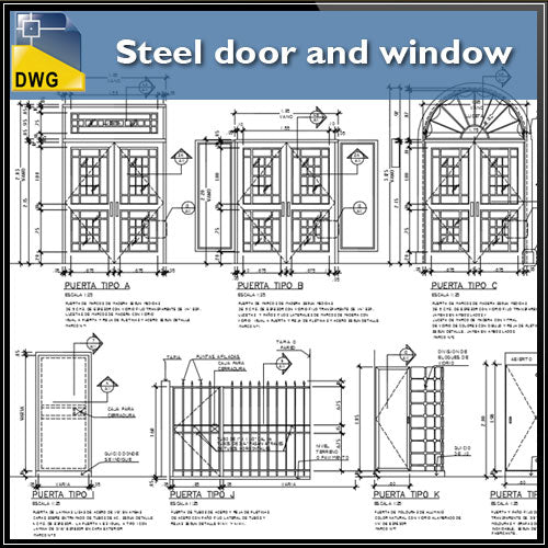 【CAD Details】Steel door and window CAD Details